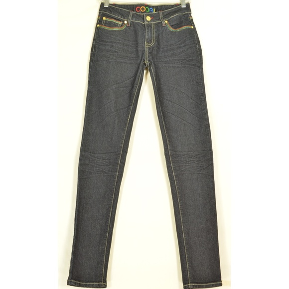 COOGI Denim - Coogi jeans 3/4 x 33 dark skinny embroidered back